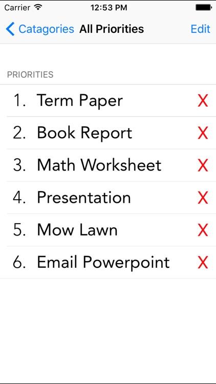 Priorities - Task Organization