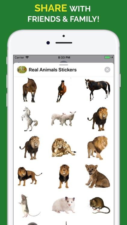 Real Animals Emoji Stickers screenshot-6
