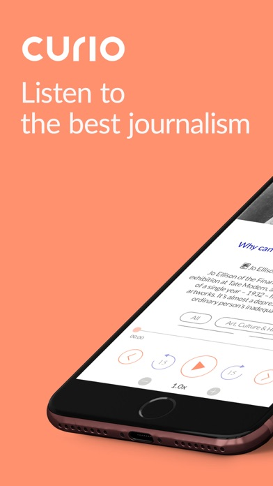 Screenshot for Curio: Hear great journalism in United States App Store