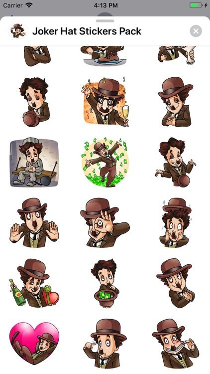 Joker Hat Stickers Pack