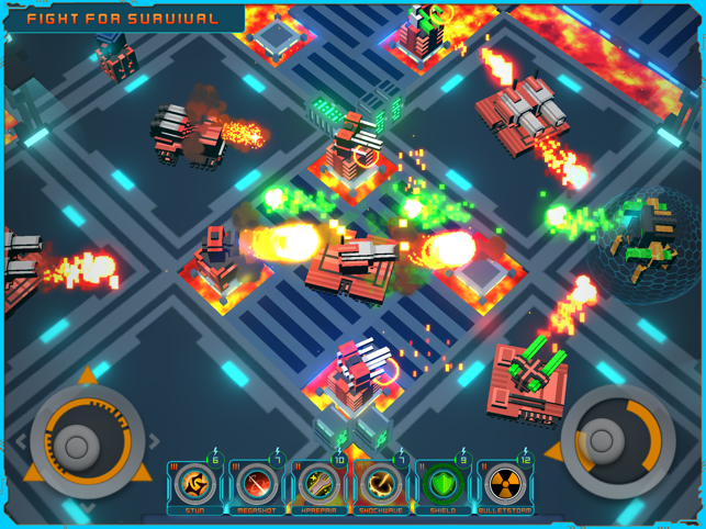 Blocky Bot Shooter : Outlast, game for IOS