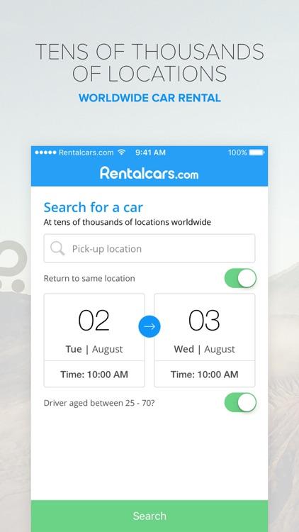 Rentalcars.com Car rental App screenshot-0