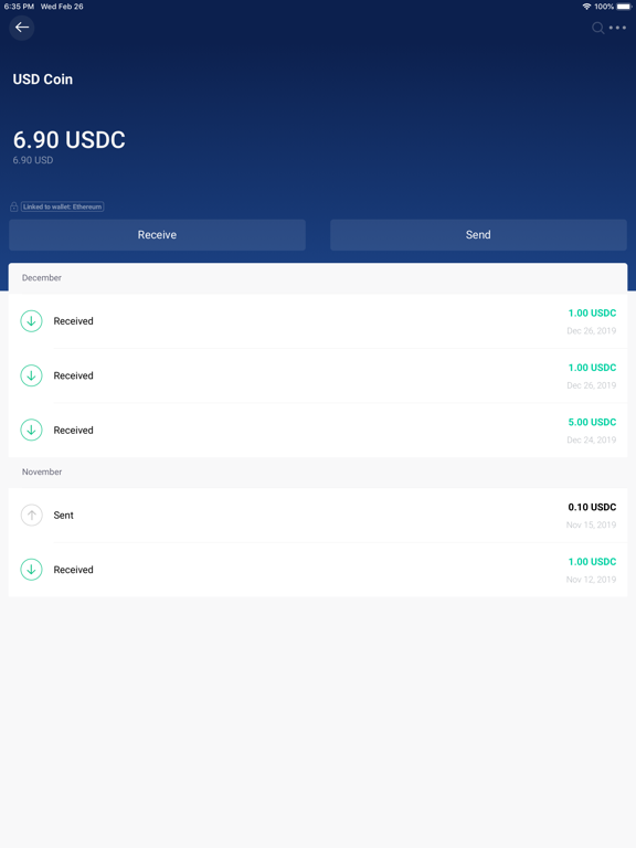 Copay Bitcoin Wallet screenshot
