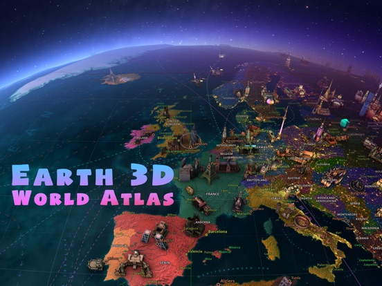 Screenshot #1 for Earth 3D - World Atlas
