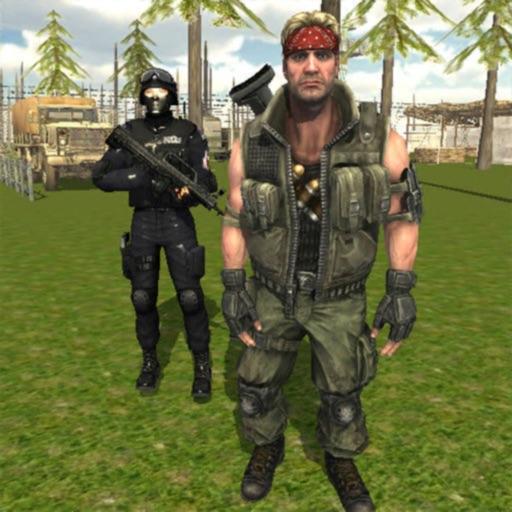 Commando Behind Sniper Warfare
