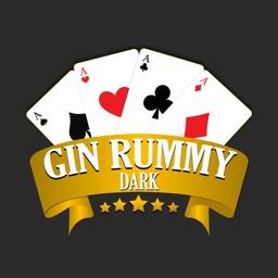 Gin Rummy Card Game Dark