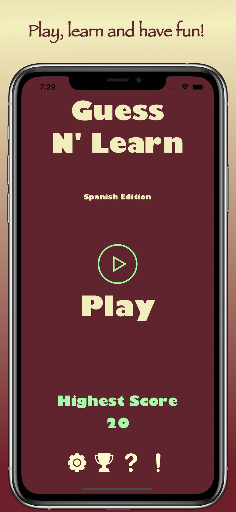 Guess N Learn: Spanish Cheat Codes