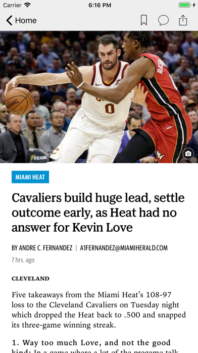 News for Heat Basketball Screenshot