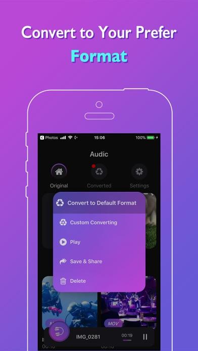 Audic - Audio MP3 Converter ScreenShot1