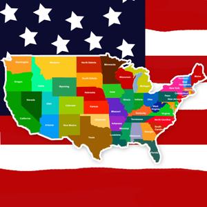 America Geography Quiz - Education app