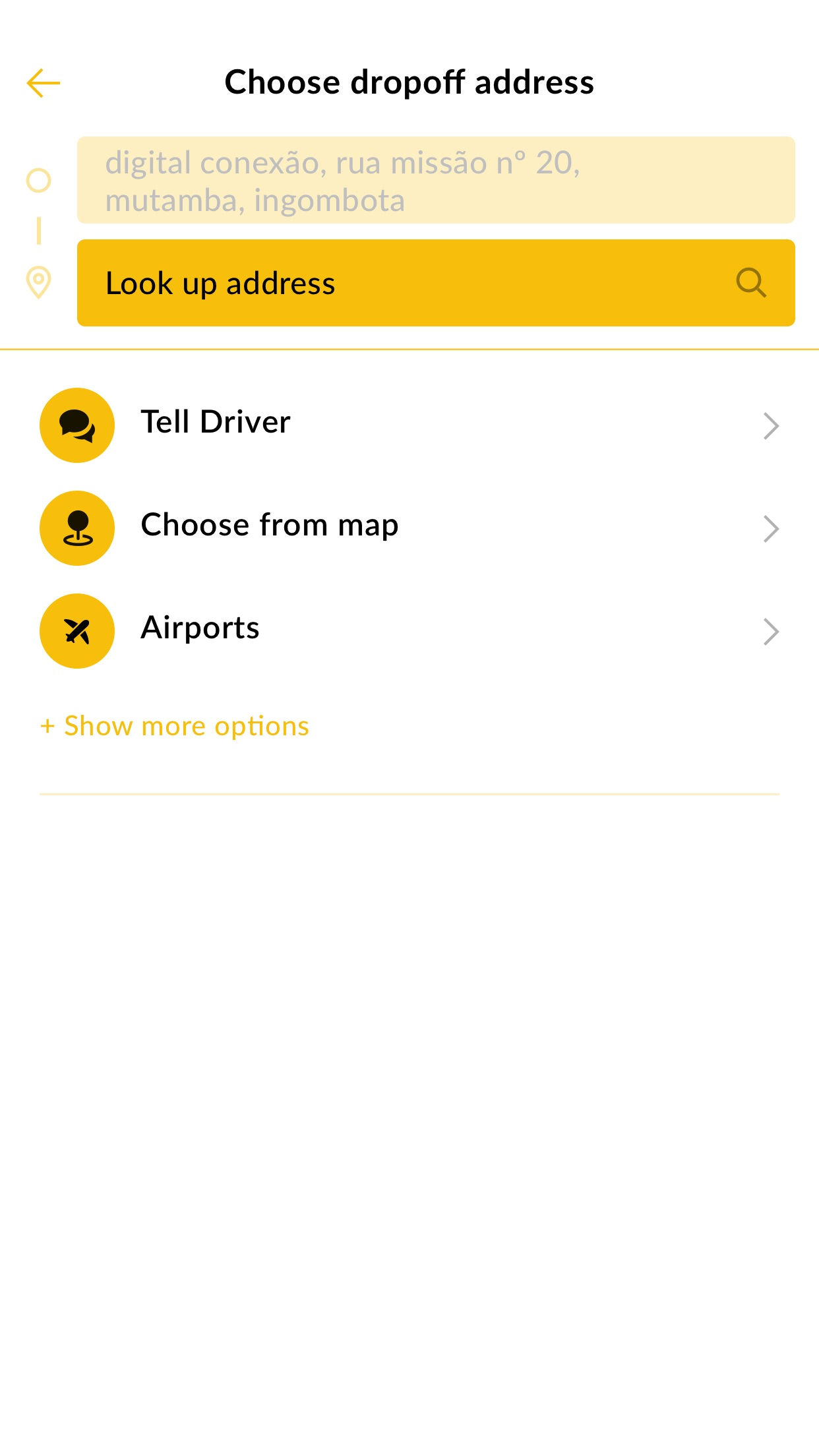 Allo Taxi Angola Screenshot
