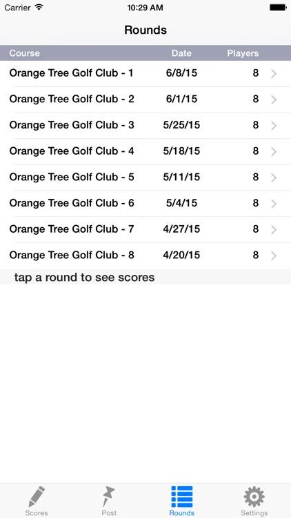 Golf Handicap Group & League screenshot-4