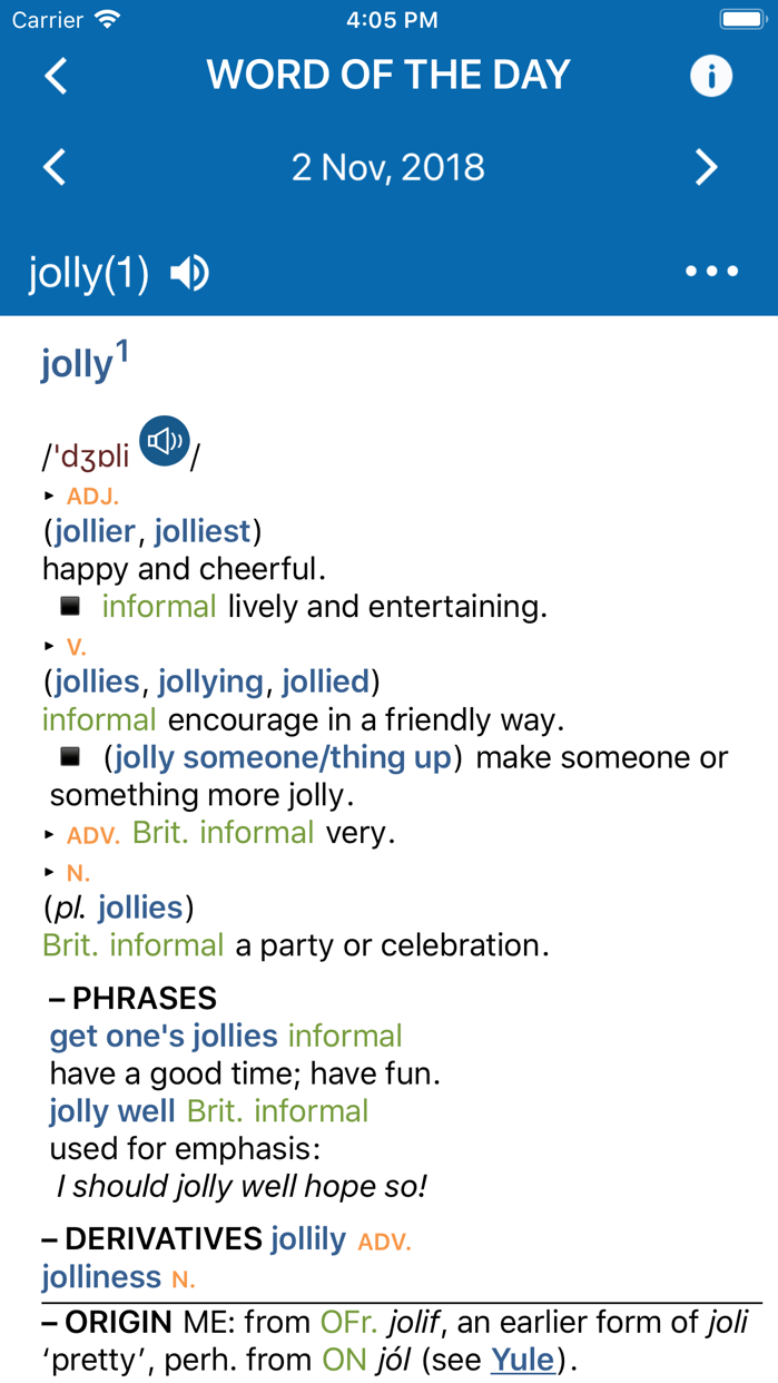Concise Oxford Dictionary Screenshot