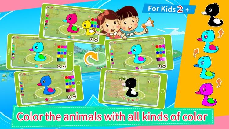 Animals' Color Shape Puzzle 2+