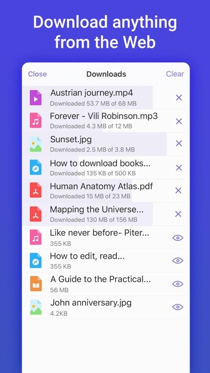 Documents: Files, PDF, Browser screenshot-5