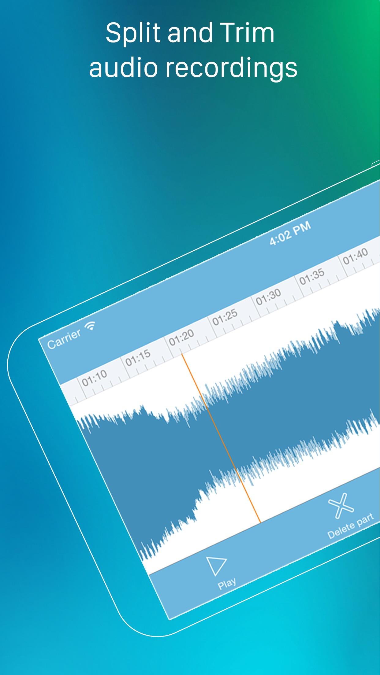 Screenshot do app eXtra Voice Recorder Pro