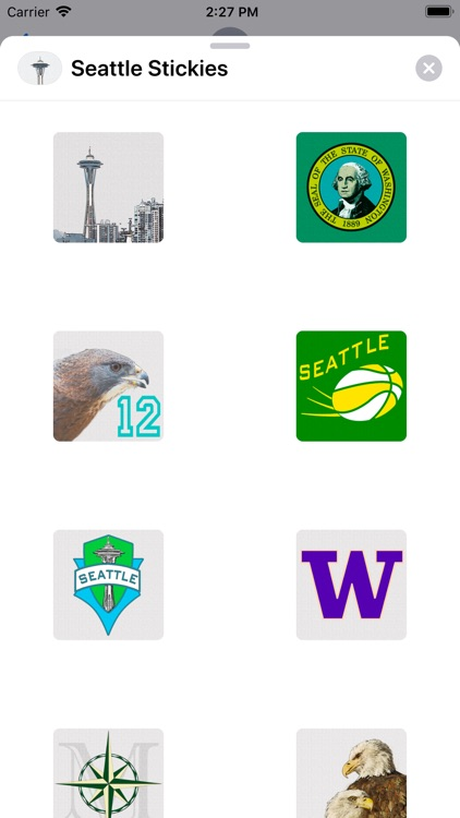 Seattle Stickies for iMessage screenshot-1