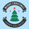 Merry Christmas stickers emoji