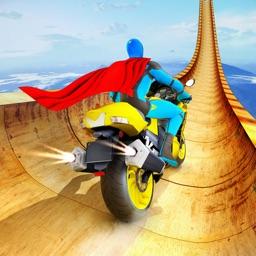 Superhero Bike Stunt Racing