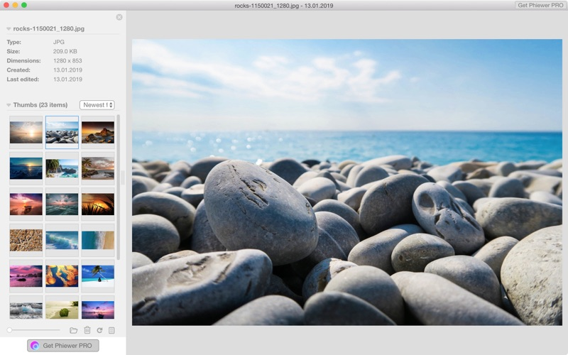 Phiewer - Image Viewer for Photos, Videos & Audio for Mac