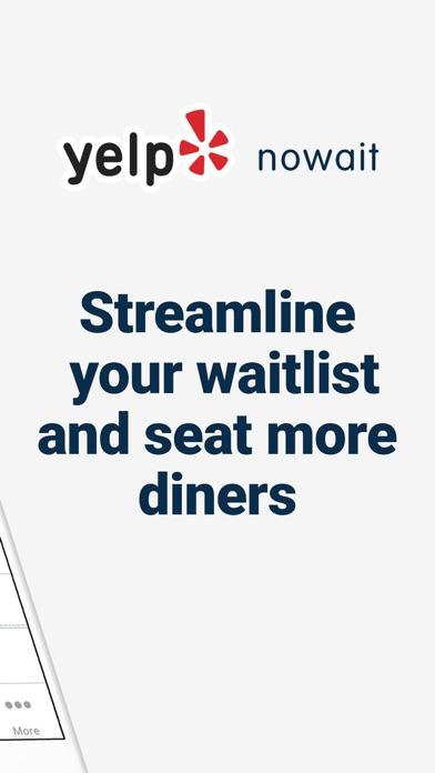 Yelp Nowait for Restaurants