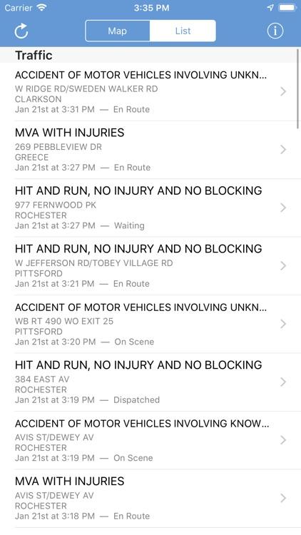 Monroe County Incidents