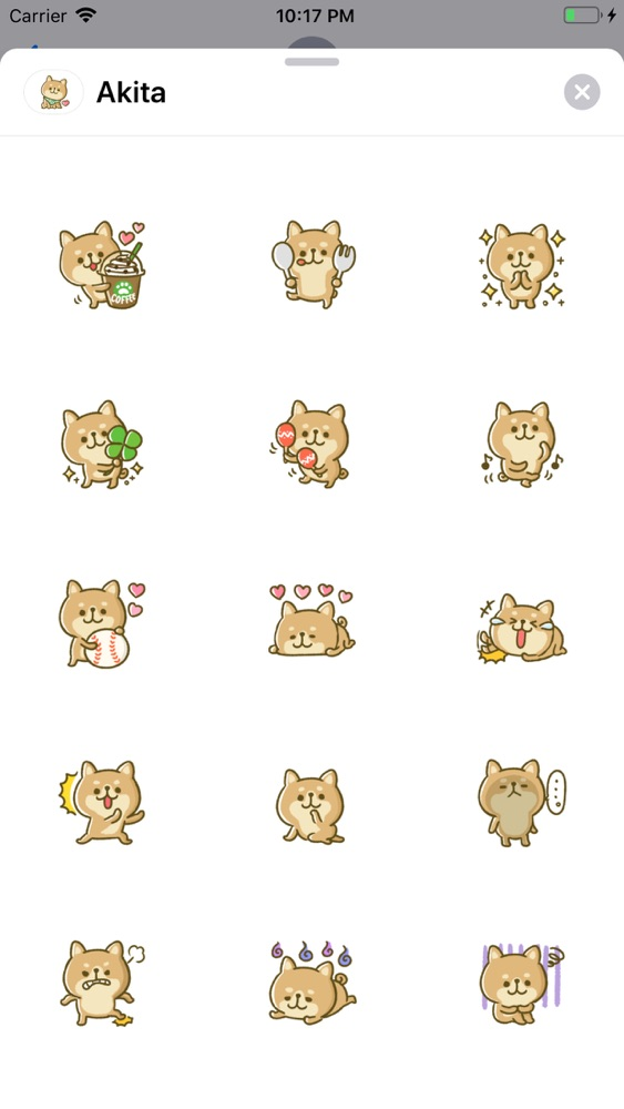 Lovely Akita Dog Emoji App for iPhone - Free Download Lovely Akita
