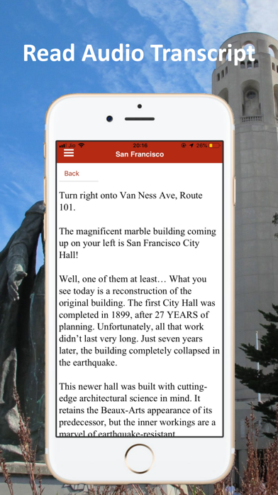 San Francisco Audio Tour Guide Screenshot