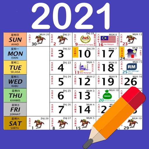 Malaysia Calendar 2020 / 2021 App for iPhone - Free ...