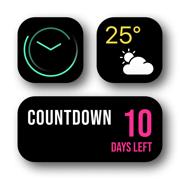 小部件   天气预报和日历主题