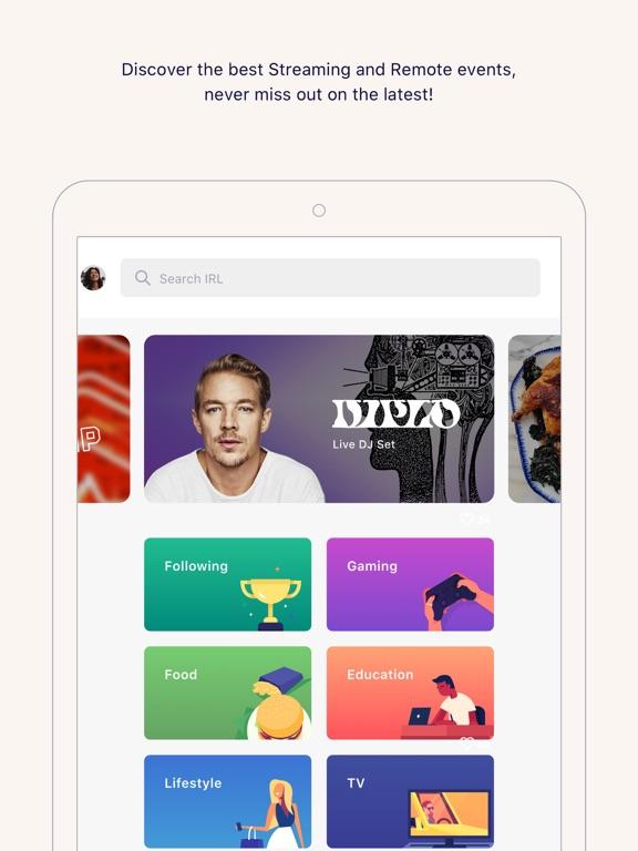 iPad Image of IRL - Social Calendar