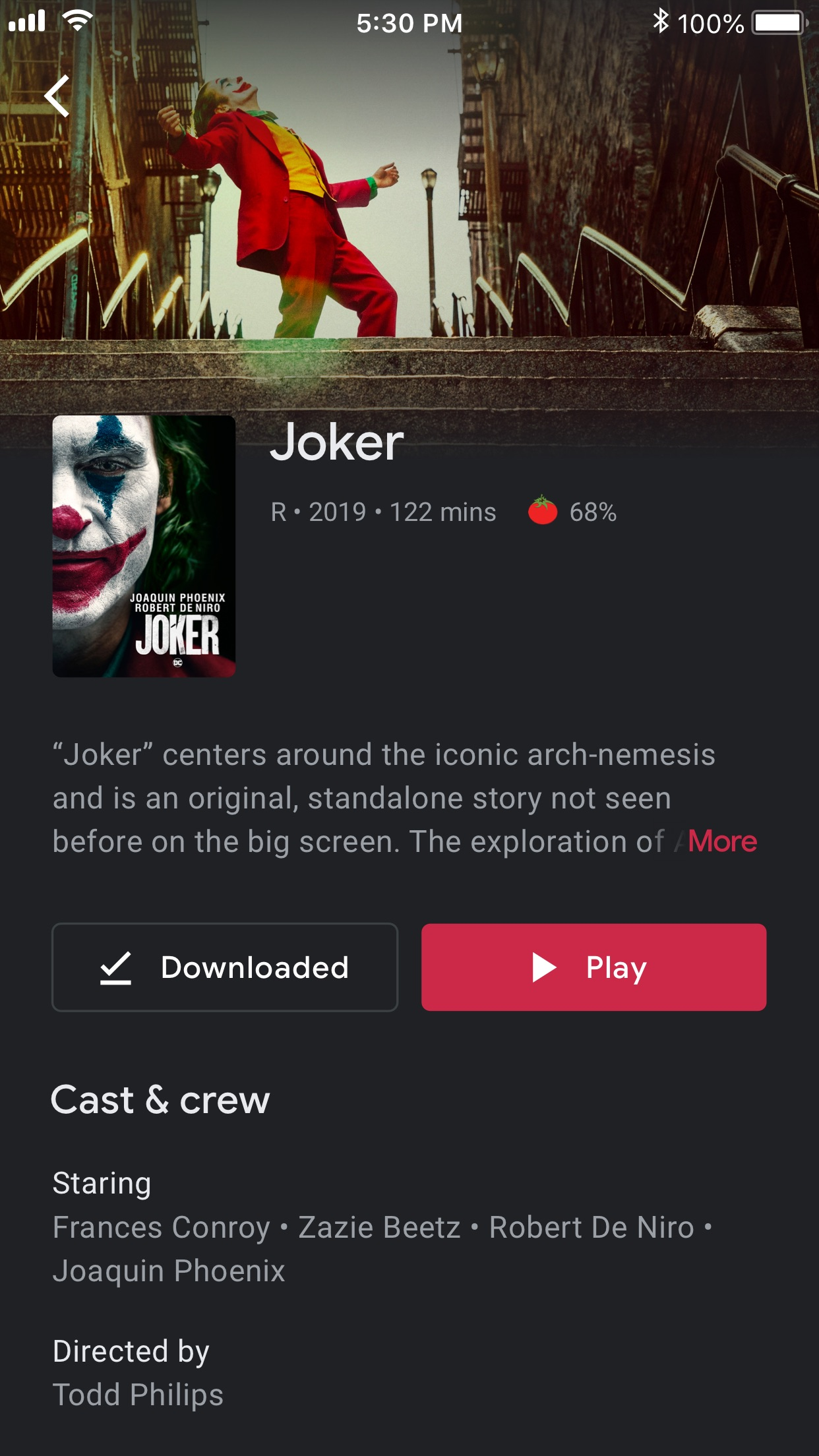 Google Play Movies & TV Screenshot