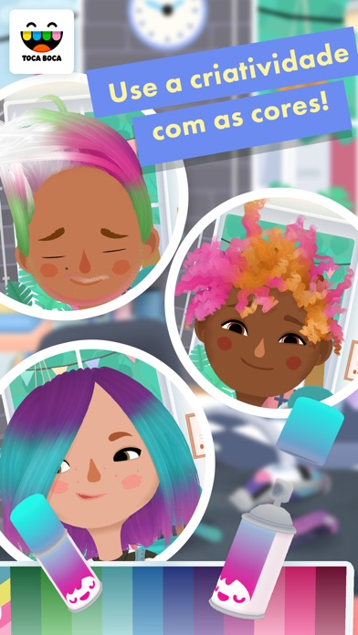 Screenshot for Toca Hair Salon 3 in Brazil App Store
