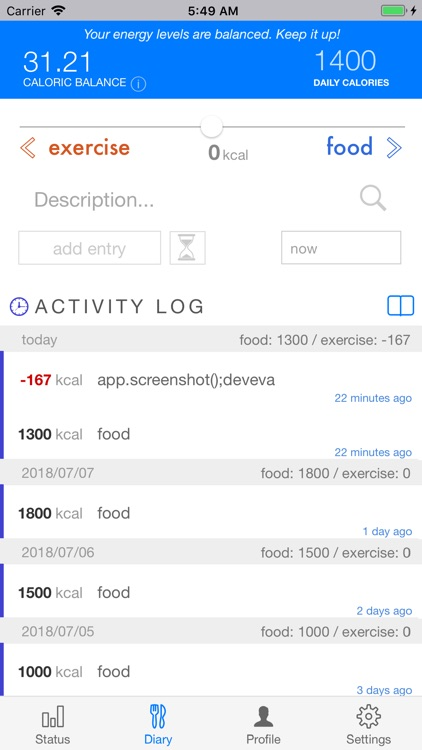 Scientific Diet Clock screenshot-1