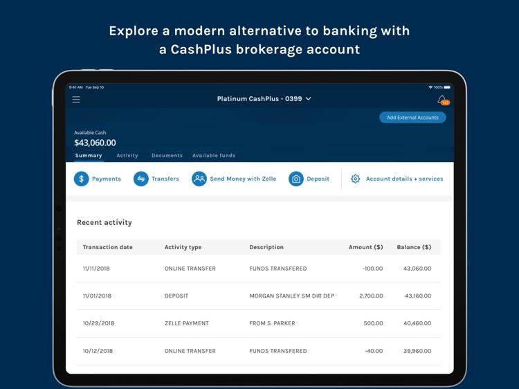 Morgan Stanley Wealth – Tablet screenshot-4