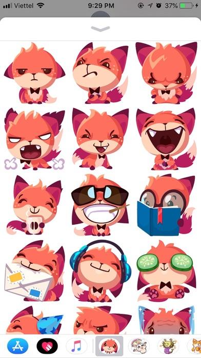 Fox Cute Pun Funny Stickers screenshot 2