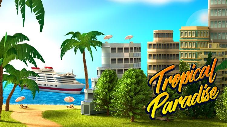 Tropic Paradise Town Build Sim screenshot-0