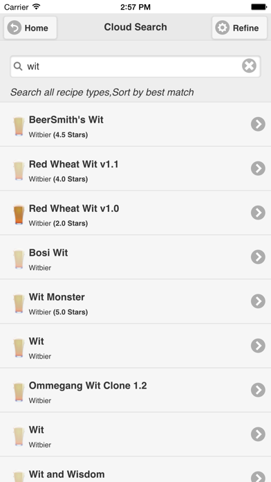 Beersmith Mobile Home Brewing review screenshots