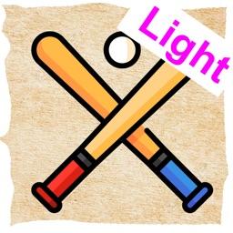 Baseball trading cards Light
