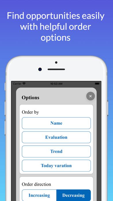 Screenshot of Stock Evaluator7