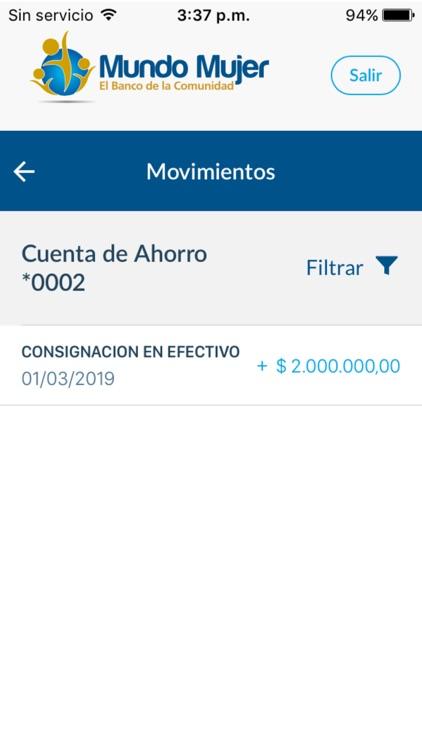 Banco Mundo Mujer screenshot-3