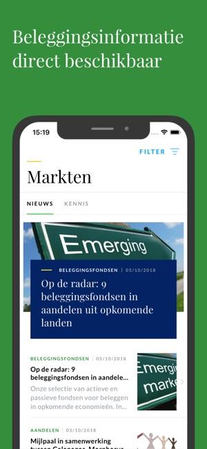 Beleggen met de Rabo Bankieren App