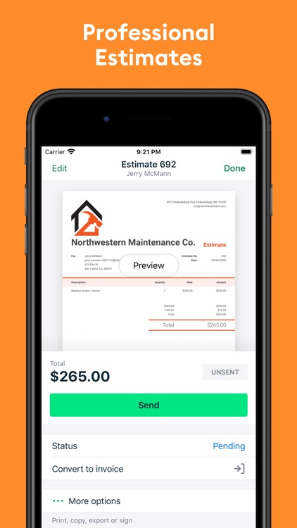 Easy Invoice Maker: Invoice2go screenshot-9