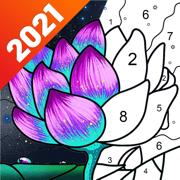 乐涂数字填色:秘密花园涂色画画