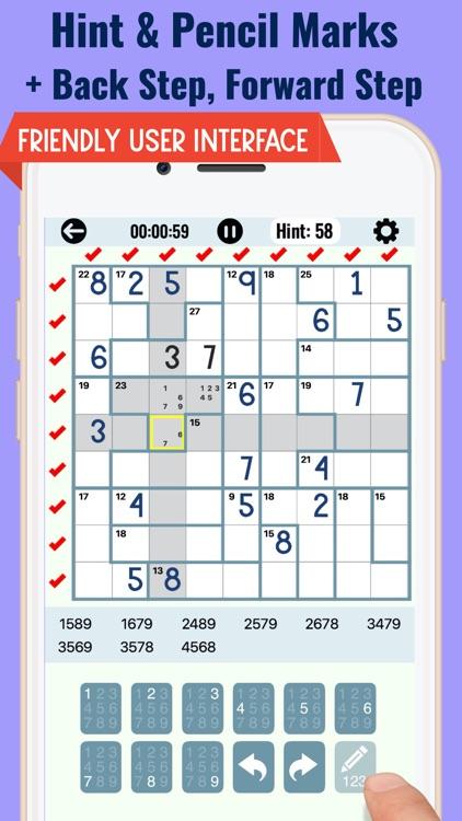 Killer Sudoku Puzzle Games screenshot-3