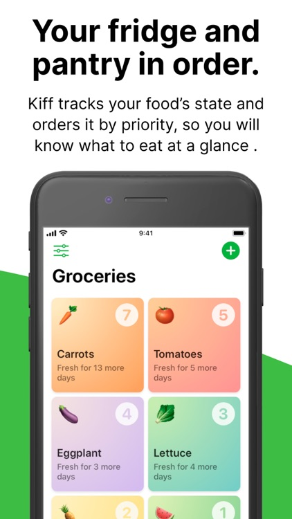 Kiff: Food expiration tracker