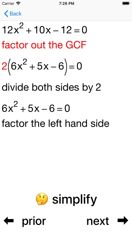Quadratic Factoring screenshot-8