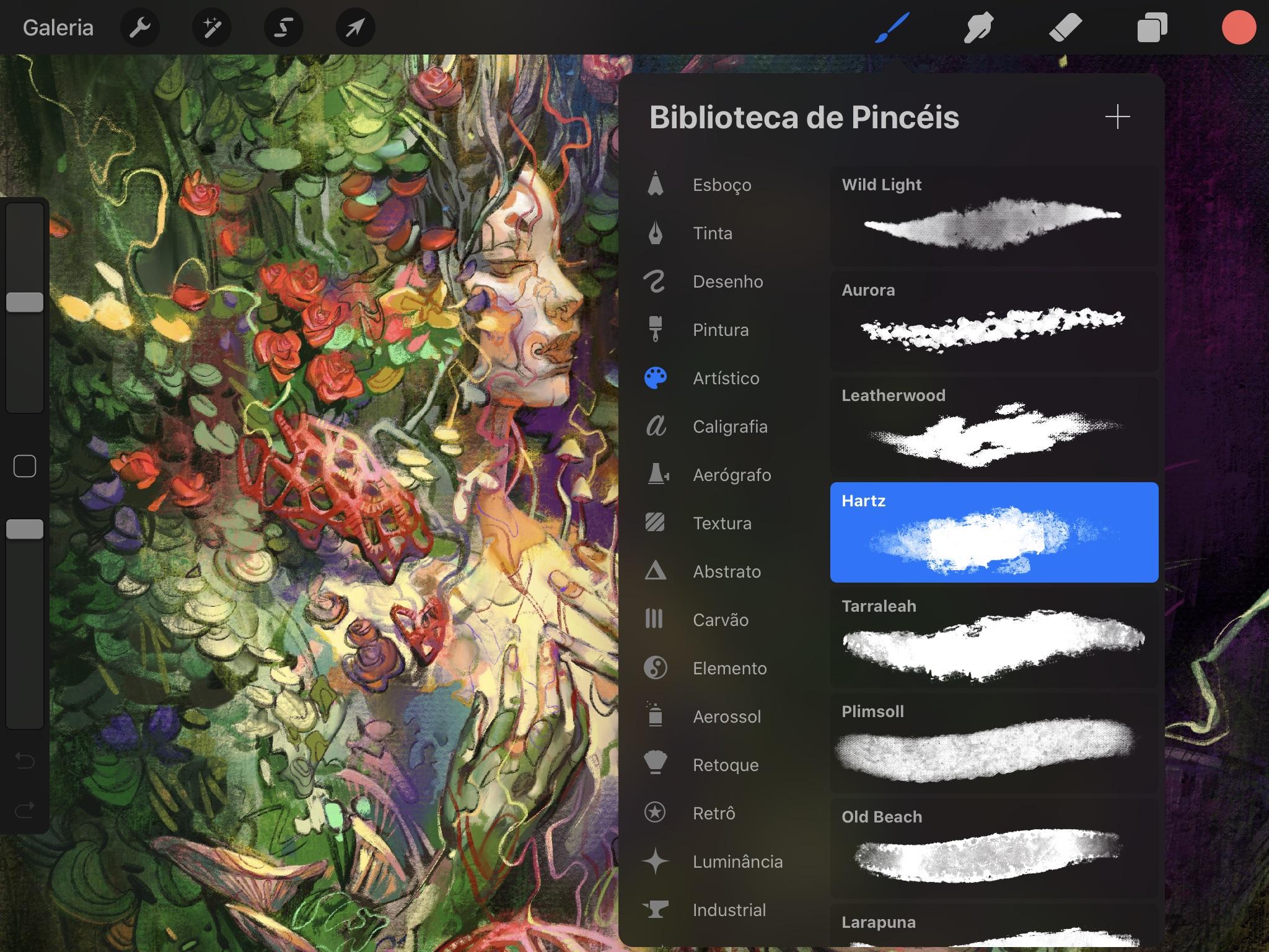 Screenshot do app Procreate