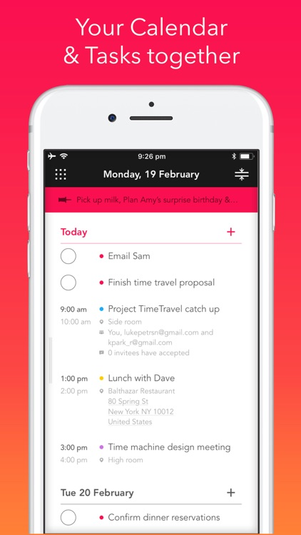 Rooster: Daily Planner, Agenda screenshot-0