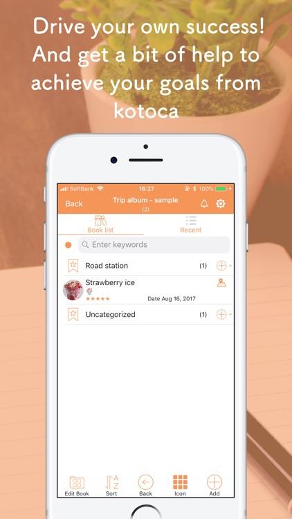 kotoca - Your Life Notebooks - screenshot-3